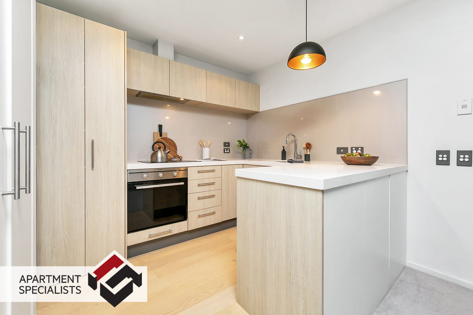 Interior Lighting Staged Apartment | Apartment Specialists